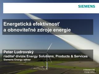 Energetická efektívnosť  a obnoviteľné zdroje energie