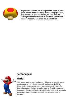 Personages: Mario!