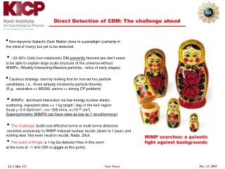 Direct Detection of CDM: The challenge ahead