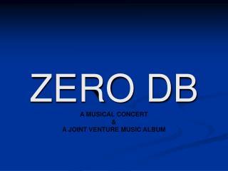 ZERO DB A MUSICAL CONCERT & A JOINT VENTURE MUSIC ALBUM
