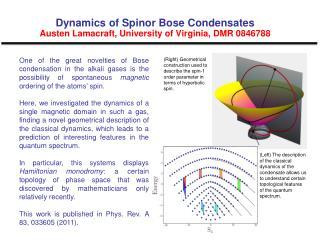 Dynamics of Spinor Bose Condensates Austen Lamacraft, University of Virginia, DMR 0846788