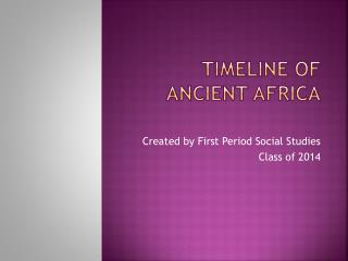 Timeline of Ancient Africa