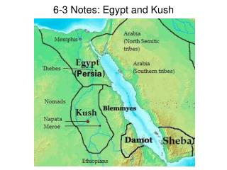 6-3 Notes: Egypt and Kush