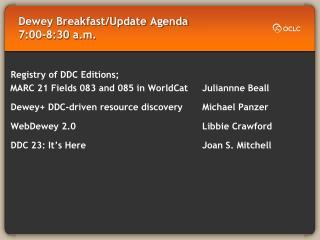 Dewey Breakfast