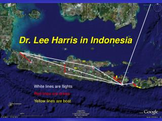 Dr. Lee Harris in Indonesia