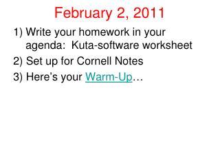 February 2, 2011