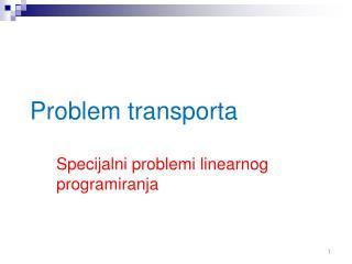 Problem transporta