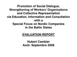 Social, Economic and Trade Union Background: