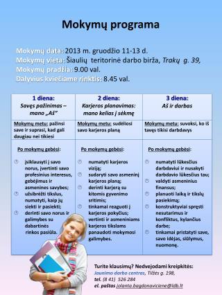 Mokymų programa
