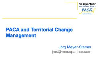 PACA and Territorial Change Management