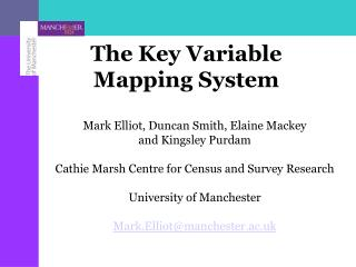 The Key Variable Mapping System