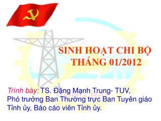 SINH HOẠT CHI BỘ THÁNG 10/2011