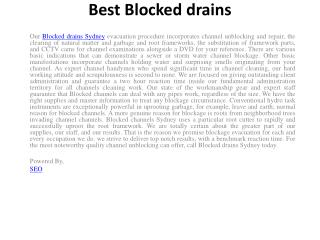 Best Blocked drains