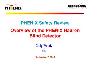 PHENIX Safety Review Overview of the PHENIX Hadron Blind Detector