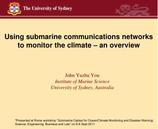 Using submarine communications networks to monitor the climate – an overview