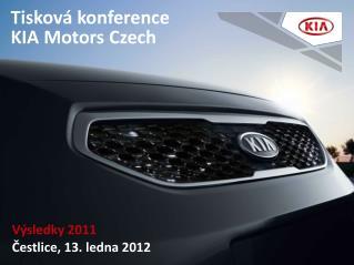 Tisková konference  KIA Motors Czech