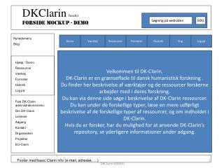 Footer med basic Clarin info (e-mail, adresse, …)