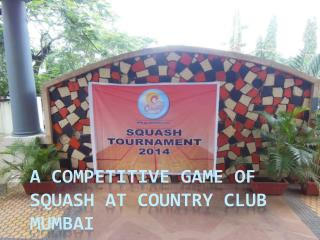 A Competitive Game of Squash at Country Club