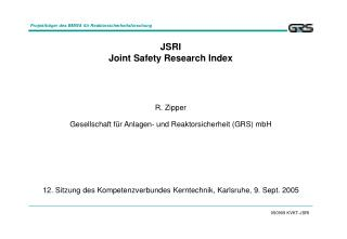 JSRI Joint Safety Research Index