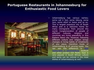 Eating out in johannesburg