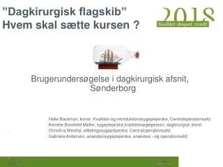 """""""Dagkirurgisk flagskib"""" Hvem skal sætte kursen ?"""