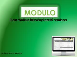 Elektronikus kérvénykezelő rendszer