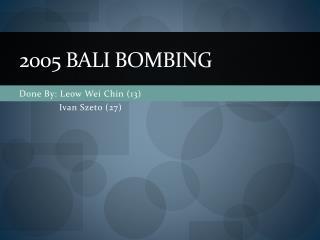 2005 Bali bombing