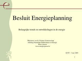 Besluit Energieplanning
