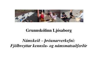 Grunnskólinn Ljósaborg  Námskeið – þróunarverkefni:  Fjölbreyttar kennslu- og námsmatsaðferðir