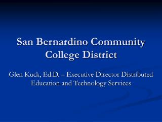 San Bernardino Community College District