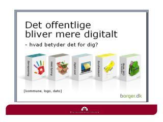 Fællesoffentlig kampagne for offentlig digital selvbetjening 2013