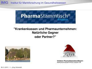 """""""Krankenkassen und Pharmaunternehmen:  Natürliche Gegner  oder Partner?"""""""