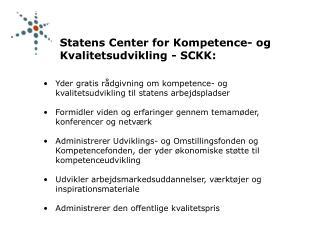 Yder gratis rådgivning om kompetence- og kvalitetsudvikling til statens arbejdspladser