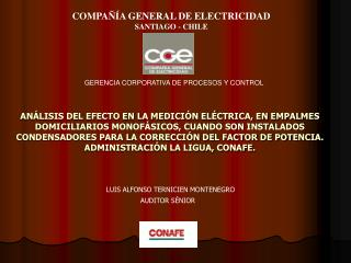 COMPA��A GENERAL DE ELECTRICIDAD SANTIAGO - CHILE