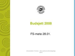 Budsjett 2008