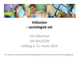 Inklusion  -  sociologisk set