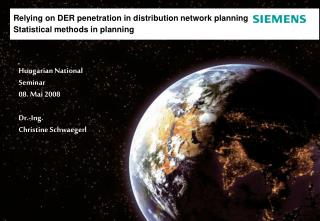 Relying on DER penetration in distribution network planning  Statistical methods in planning