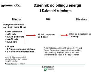 Dziennik do bilingu energii