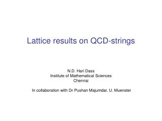 Lattice results on QCD-strings