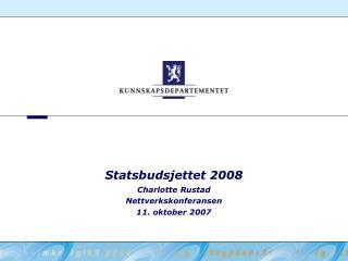 Statsbudsjettet 2008