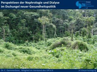 Perspektiven der Nephrologie und Dialyse  im Dschungel neuer Gesundheitspolitik