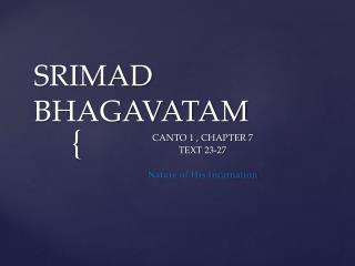 SRIMAD BHAGAVATAM