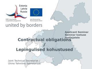 Contractual obligations / Lepingulised kohustused