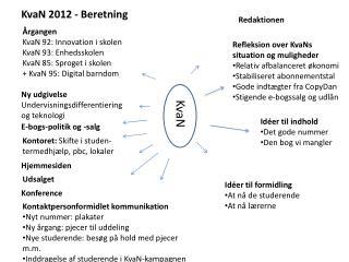 KvaN 2012 - Beretning