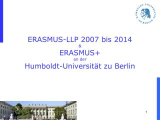 ERASMUS-LLP 2007 bis 2014 & ERASMUS+ an der  Humboldt-Universität zu Berlin