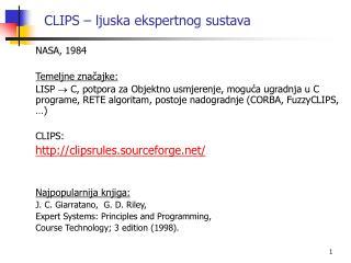 CLIPS – ljuska ekspertnog sustava