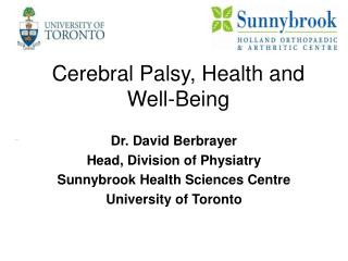 Cerebral Palsy, Health and Well-Being