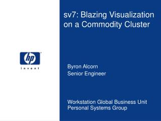 Sv7: Blazing Visualization on a Commodity Cluster