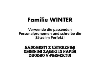 Familie WINTER