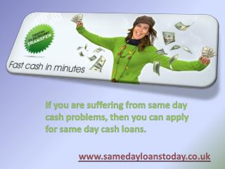 Same Day Loans No Credit Check-Acquire Money Through Online